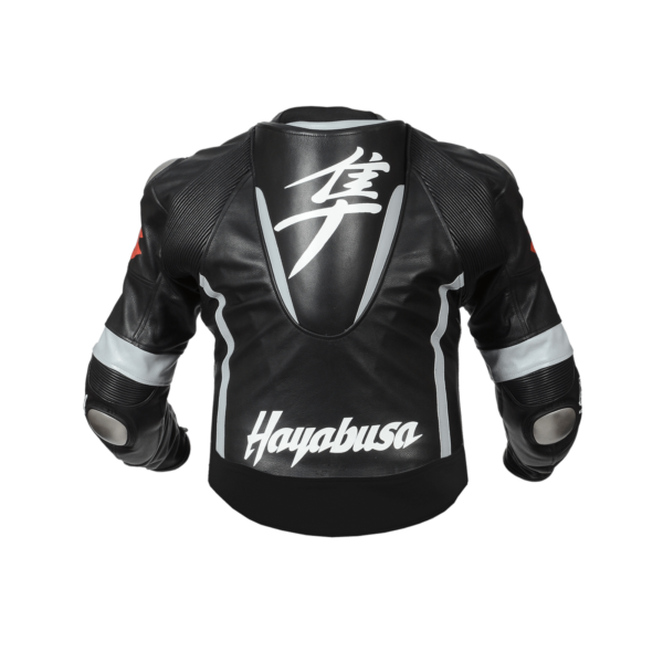 Suzuki Hayabusa Motorcycle Black Leather Jacket
