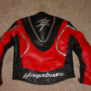 Suzuki Hayabusa Motorcycle Red Leather Jacket