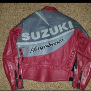Suzuki Hayabusa Vanson Motorcycle Leather Jacket