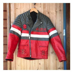 Suzuki Red Black Motorcycle Racing Jacket