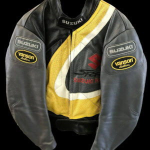 Vanson Suzuki Motorcycle Racing Leather Jacket