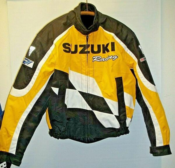 Yellow and Black Suzuki Yoshimura Motorcycle Jacket