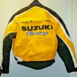 Yellow and Black Suzuki Yoshimura Motorcycle Jacket
