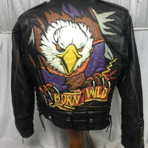 Easy riders Born Wild Black Biker Leather Jacket