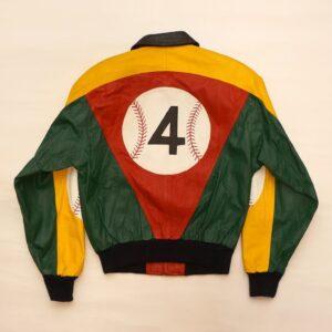 Glen Wood 4 Baseball Leather Bomber Jacket