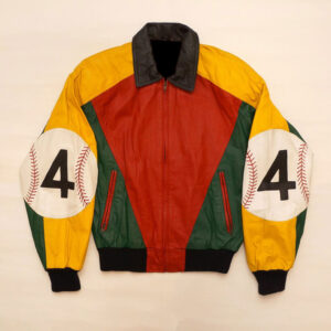 Glen Wood 4 Baseball Leather Bomber Jacket
