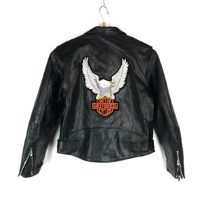 Harley Davidson Black Eagle Biker Leather Jacket