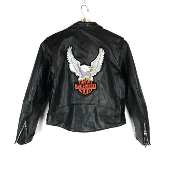 Harley Davidson Black Eagle Biker Leather Jacket