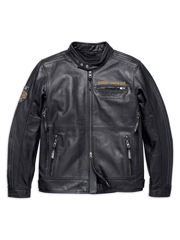 Harley Davidson Black Motorcycle Eagle Leather Jacket