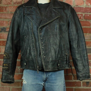 Harley Davidson Black Studded Biker Leather Jacket