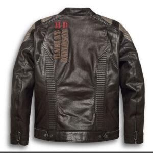 Harley Davidson Brown Exhort Leather Jacket