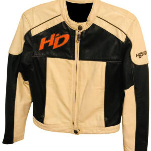 Harley Davidson Cream Black Legend Leather Jacket
