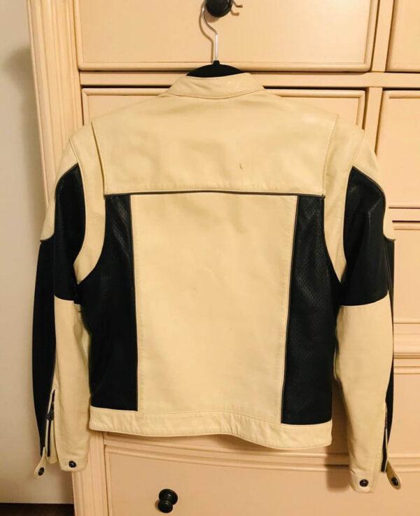 Harley Davidson Cream Black Legend Leather Jacket