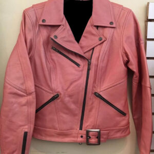 Harley Davidson Cycle Queen Pink Biker Leather Jacket