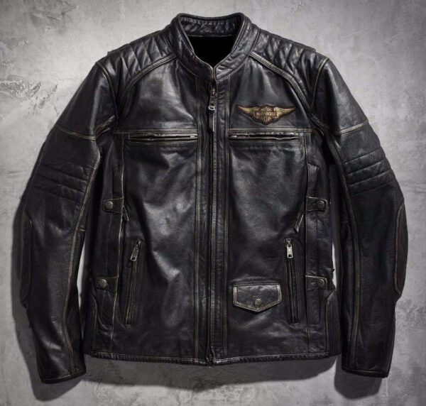 Harley Davidson Detonator Distressed Motorcycle Jacket