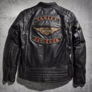 Harley Davidson Detonator Distressed Motorcycle Jacket
