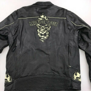 Harley Davidson Elemental Motorcycle Leather Jacket