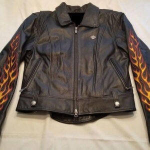 Harley Davidson Flame II Ride Free Leather Jacket