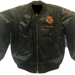 Harley Davidson Gulf War Patch Flame Leather Jacket