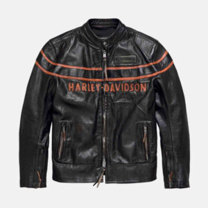 Harley Davidson Motorcycle Double Ton Leather Jacket
