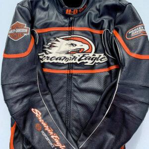 Harley Davidson Raceway Screamin Eagle Leather Jacket