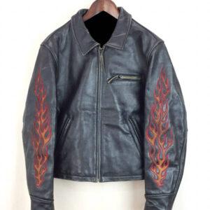 Harley Davidson Ride Free Flame Leather Jacket