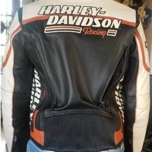 Harley Davidson White Screamin Eagle Leather Jacket