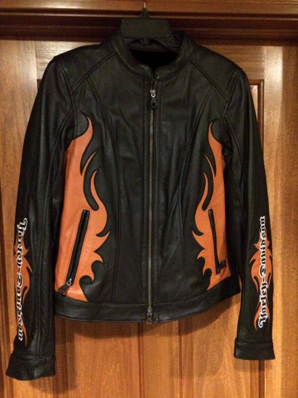 Harley Davidson Wild Flames Black Leather Jacket