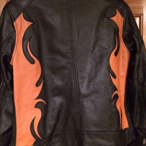 Harley Davidson Wild Flames Black Leather Jacket