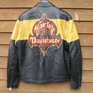 Harley Davidson Yellow Black Wildcard Riding Jacket