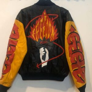 Michael Hoban Freedom Torch Vintage Leather Jacket