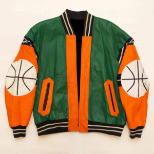 Orange Green Basketball Micheal Hoban Vintage Jacket