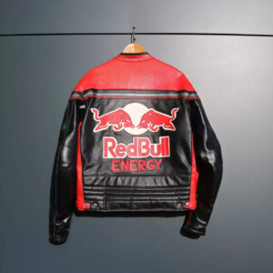 Red Bull Motorcycle Energy Edition Racing Leather Jacket