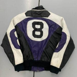 Vintage 90s 8 Ball Leather Color Block Jacket