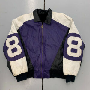 Vintage 90s 8 Ball Leather Color Block Jacket