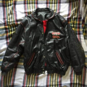 Vintage Betty Boop Black Biker Leather Jacket