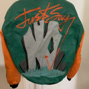 Vintage Just Say No Michael Hoban Leather Jacket