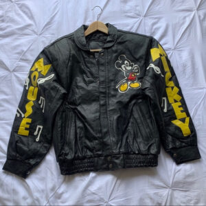 Vintage Mickey Mouse Music Leather Jacket
