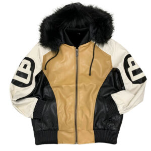 Wheat 8 Ball Robert Phillipe Jacket with Fur Hood