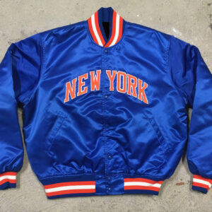 Vintage 90s Baseball New York Knicks Satin Jacket