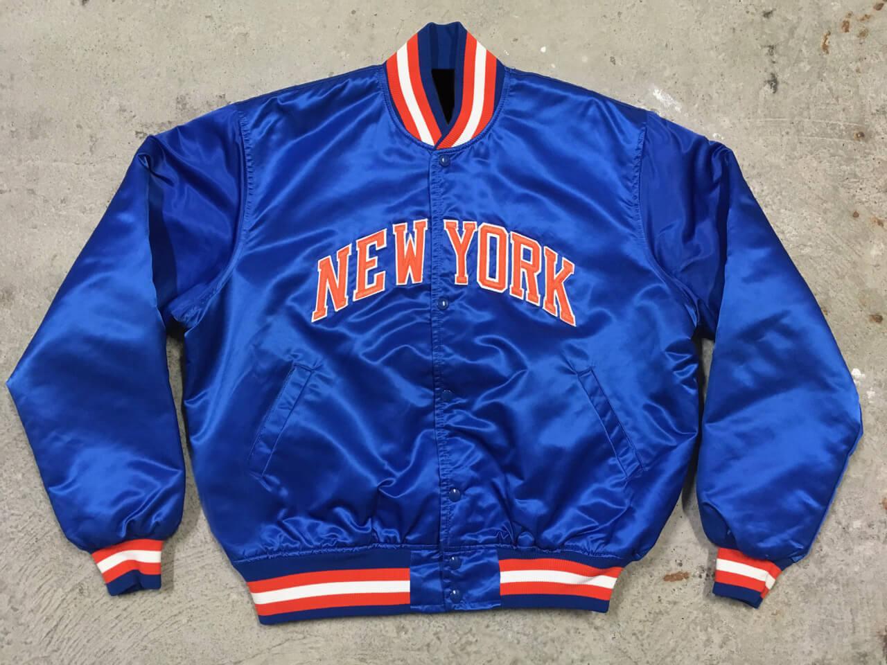 Vintage 90s Baseball New York Knicks Satin Jacket