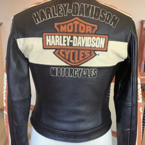 Harley Davidson Black Orange Racing Leather Jacket