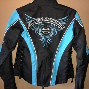 Harley Davidson Blue Black Mesh Riding Jacket