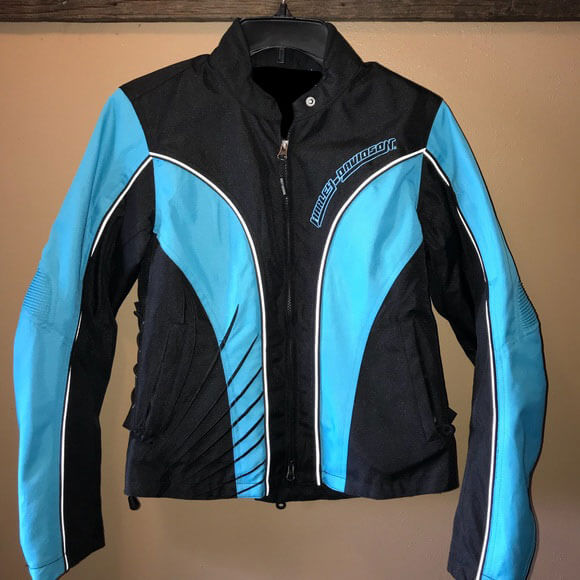Harley Davidson Blue Black Mesh Riding Jacket