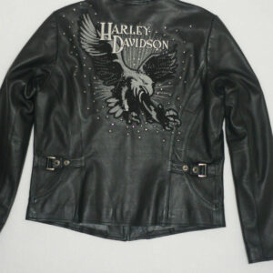 Harley Davidson Dazzle Eagle Rhinestone Leather Jacket