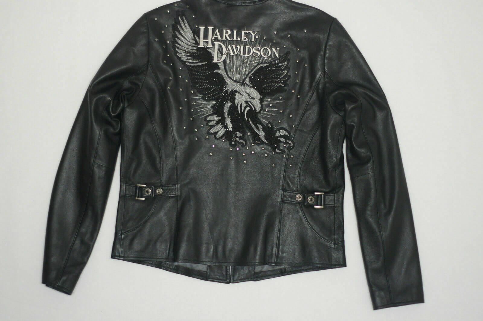 Harley Davidson Dazzle Eagle Rhinestone Leather Jacket