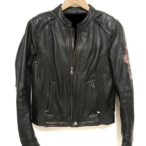 Harley Davidson Freedom Purple Roses Leather Jacket