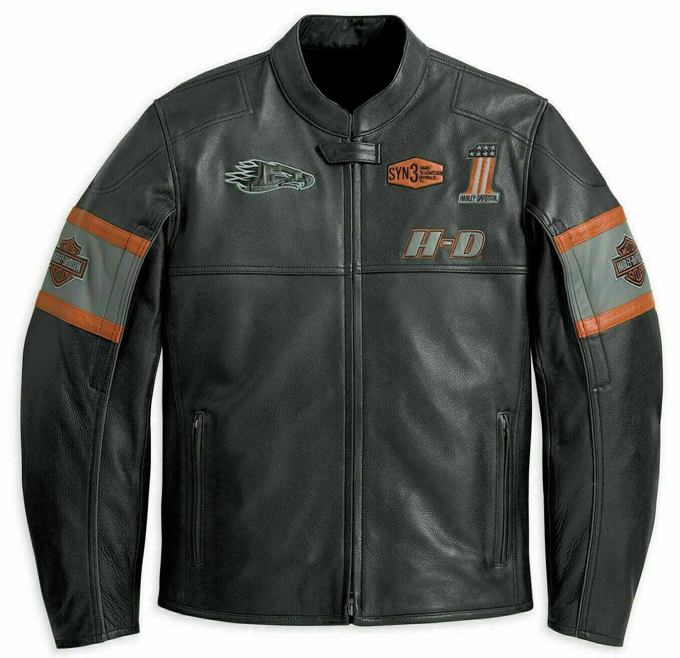 Harley Davidson Screaming Eagle Motorcycle Leather Jacket