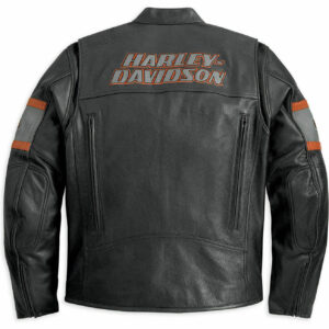 Harley Davidson Screaming Eagle Motorcycle Leather Jacket