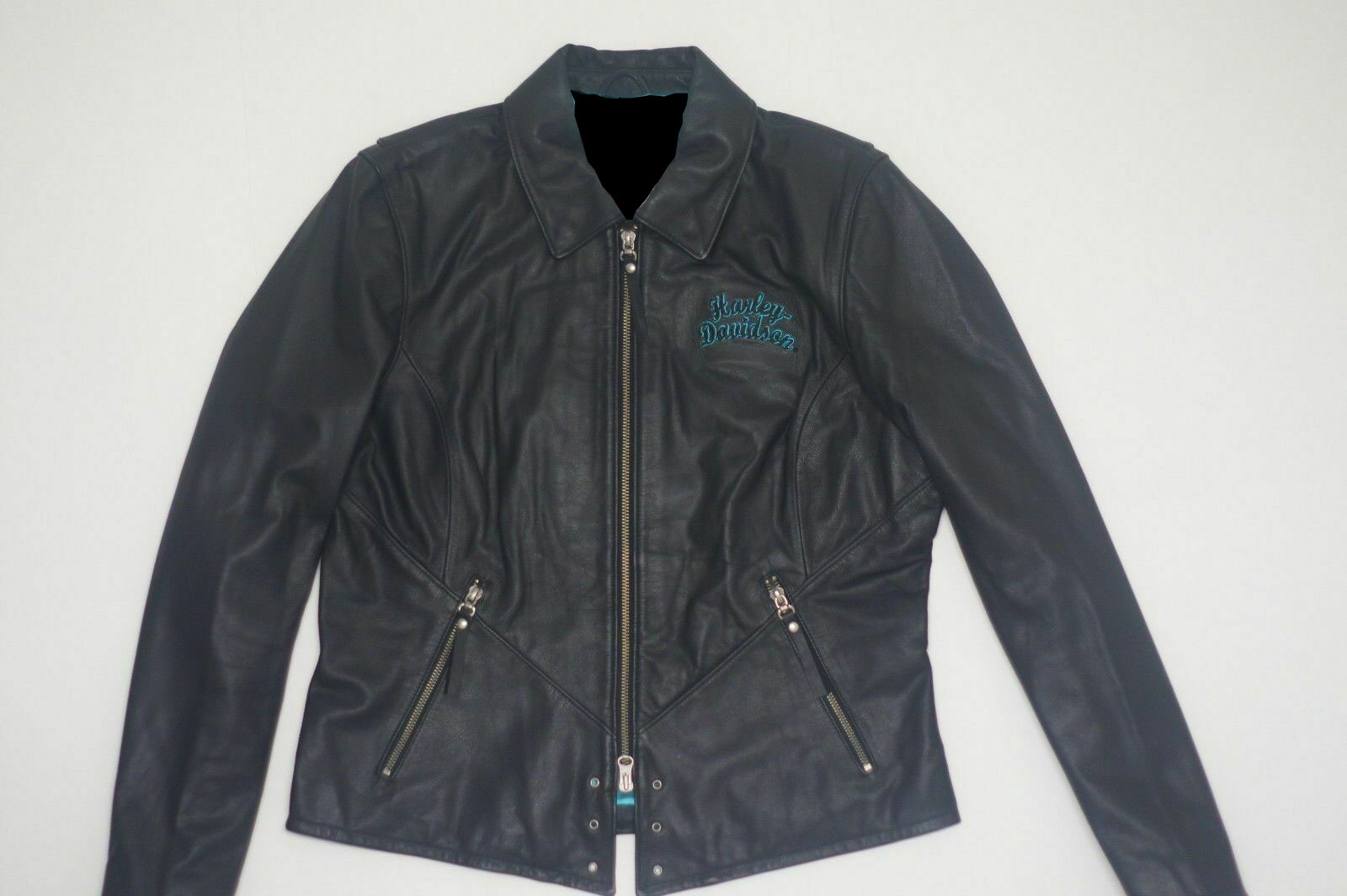 Harley Davidson Turquoise Eagle Arabelle Leather Jacket